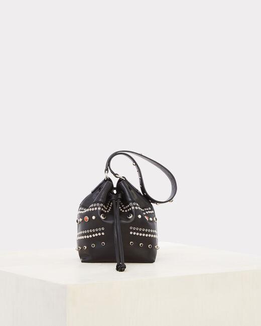 Rock black leather bag (2) - 1-2-3