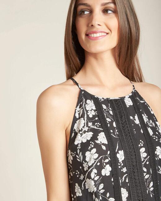 Idole floral printed long black dress (2) - 1-2-3