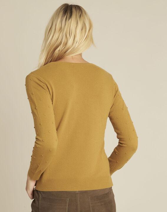Gele trui met ronde hals van gemengd wol Beebop (4) - 37653