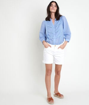 Short en coton biologique blanc Alma