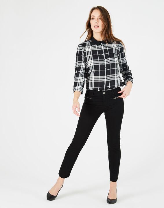 Chemise noir & blanc à carreaux Dominique (5) - 1-2-3