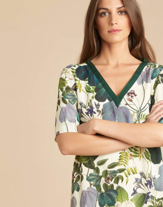 Perline forest green dress with print (1) - 1-2-3