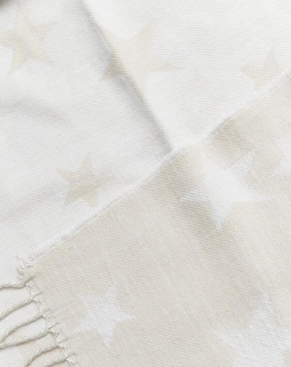 Echarpe beige motif étoiles à franges Frise (1) - 1-2-3