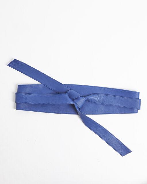 Ceinture large bleue en cuir à nouer Raul (1) - 1-2- 171d0c32791