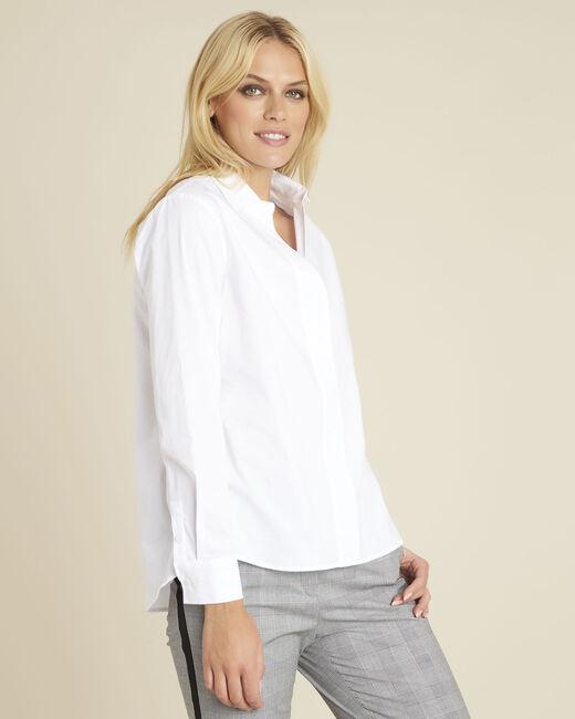 Weiße Popeline-Hemdbluse Cyrielle (2) - 1-2-3