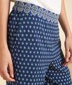 Pantalon bleu large imprimé Siroma PhotoZ | 1-2-3