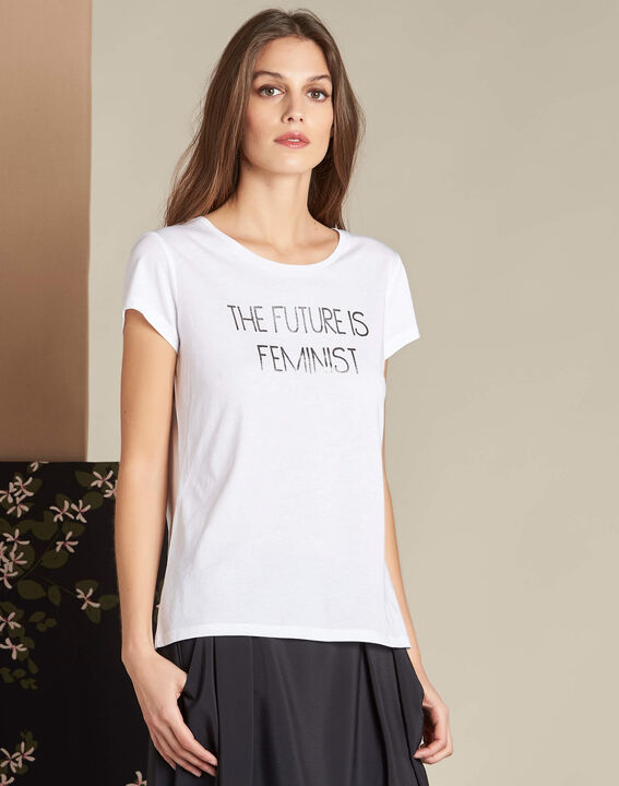 Elite white screen-printed T-shirt (3) - 1-2-3