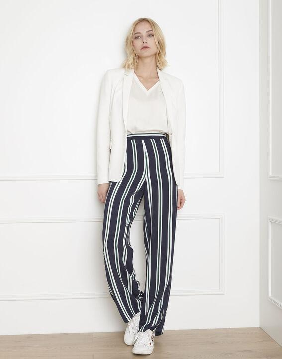Pantalon marine rayé Griffon (1) - Maison 123