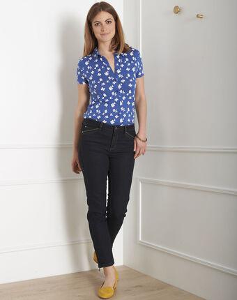 Schwarze slim-fit-jeans mit reißverschlüssen und normaler leibhöhe opera schwarz.