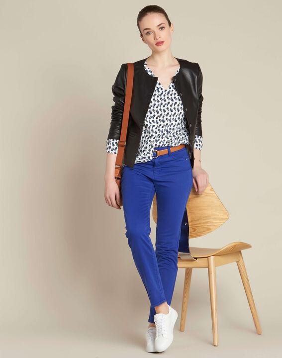 Königsblaue Slim-Fit-Jeans normale Leibhöhe Vendome (2) - 1-2-3