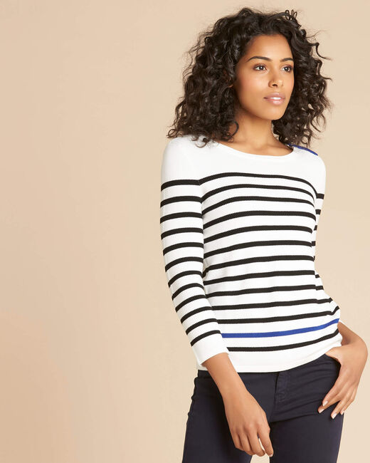 Navire blue and white striped sweater (2) - 1-2-3