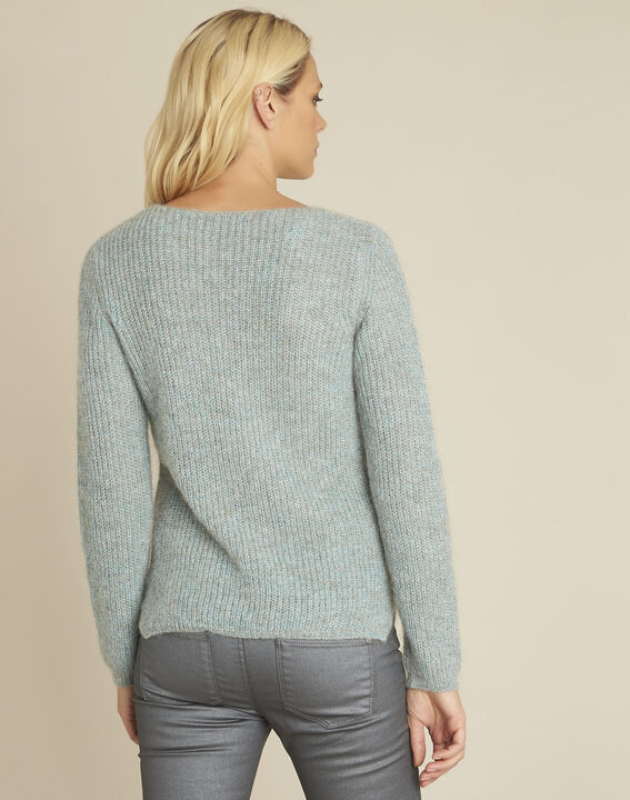 Pull bleu points fantaisie mohair Bello (4) - Maison 123