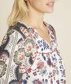 Cécile ecru blouse with floral print PhotoZ | 1-2-3