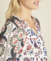 Ecru blouse met bloemenprint Cécile PhotoZ | 1-2-3