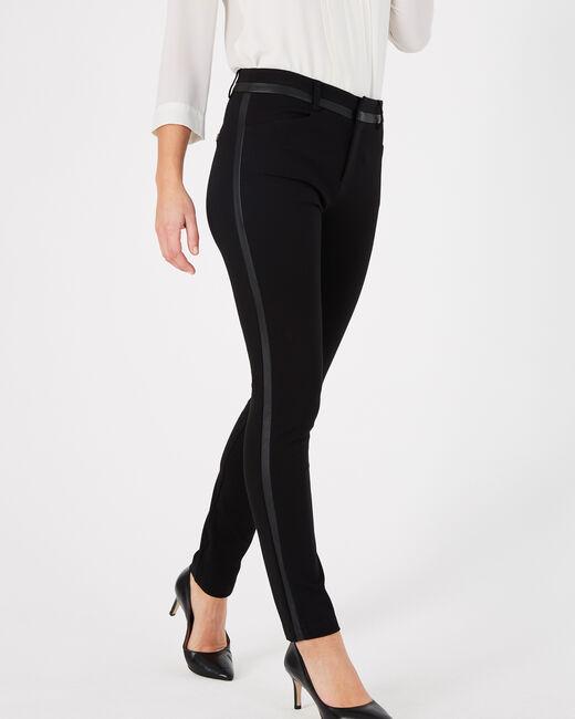 Kali slim-cut faux leather black trousers (1) - 1-2-3