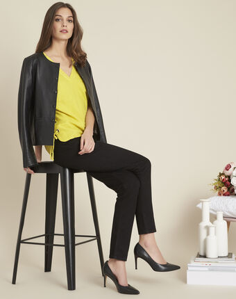 Schwarze formende 7/8-slim-fit-jeans honore schwarz.
