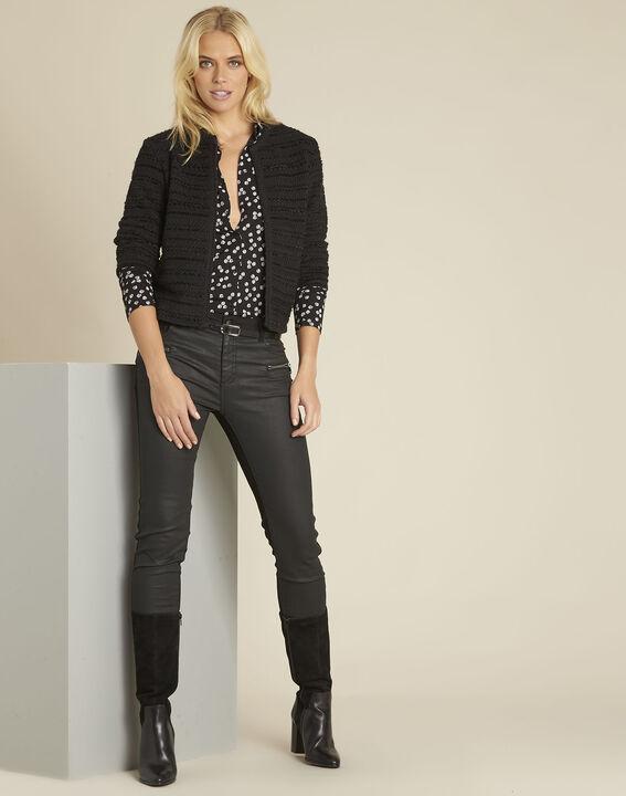 Schwarze Jacke aus Baumwoll-Melange Belly (2) - 1-2-3