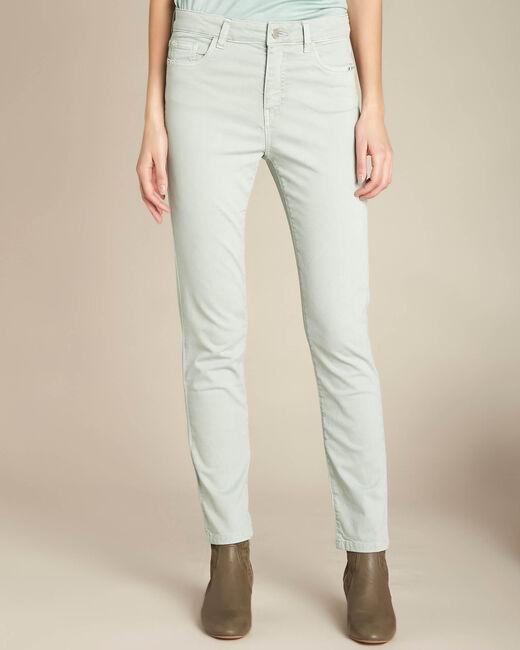 Mandelgrüne Washed Slim Fit-Jeans normale Leibhöhe Vendome (2) - 1-2-3