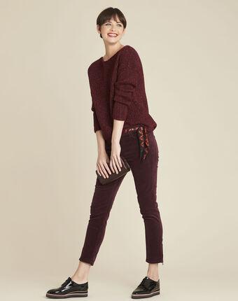 Bagno iridescent bordeaux wool pullover bordeaux.