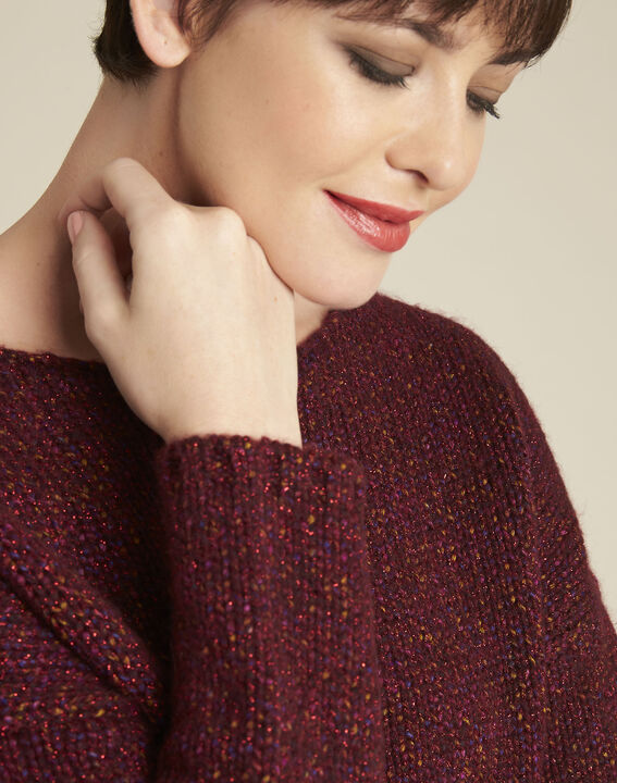 Bagno iridescent Bordeaux wool pullover (3) - 1-2-3