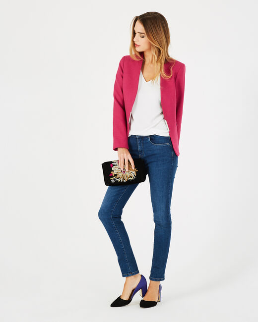 Claire fuchsia tailored jacket (1) - 1-2-3