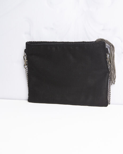 Irene embroidered black clutch bag (2) - 1-2-3