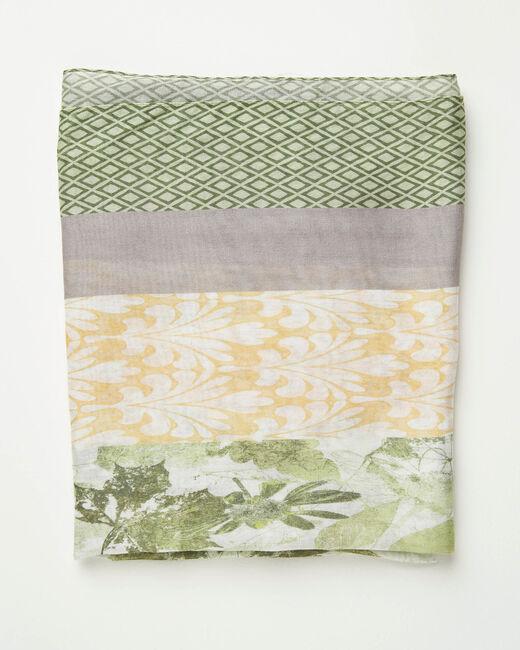 Foulard imprimé fleuri et motifs géométriques Adonis (1) - 1-2-3