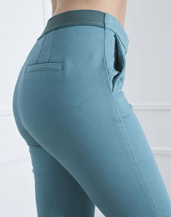 Pantalon vert slim chino Calici (4) - Maison 123