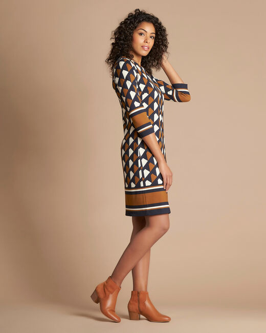 Delila graphic camel dress (1) - 1-2-3