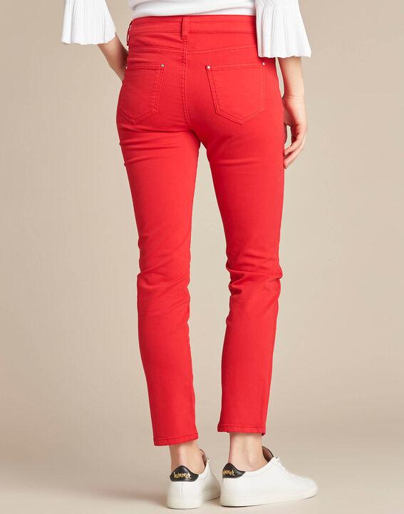 Rote 7/8 Slim-Fit-Jeans normale Leibhöhe Vendôme (4) - 1-2-3