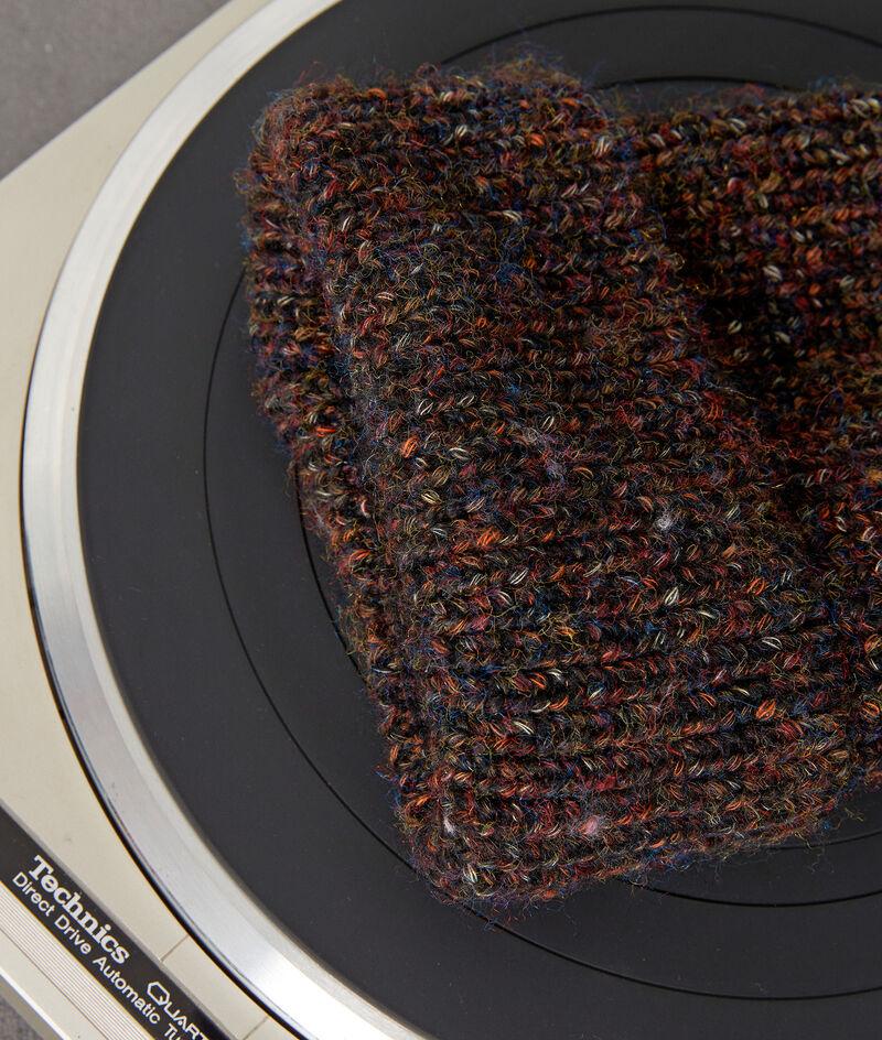 Bonnet en grosse maille marron chiné Ideal PhotoZ | 1-2-3