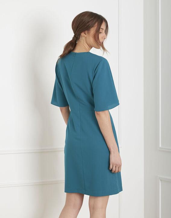 Robe bleue en crêpe portefeuille Harita (4) - Maison 123