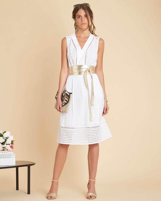 Panache embroidered white dress (2) - 1-2-3