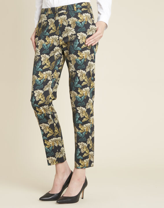 Viva tapered trousers with leaf print PhotoZ | 1-2-3