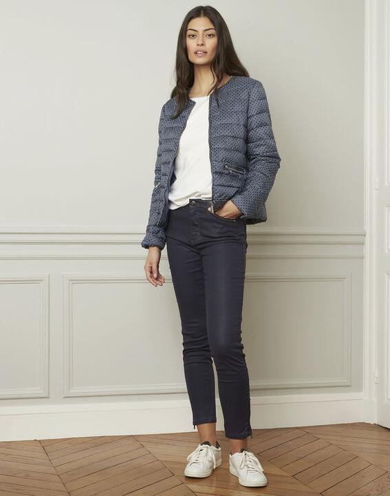 Pull blanc esprit sporty détails lurex Amarante (2) - Maison 123