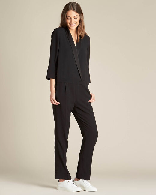 Peps black satin-effect tux jumpsuit (2) - 1-2-3