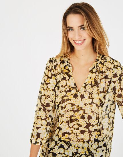 Gelbe Bluse mit Blumen Erine (2) - 1-2-3