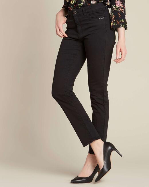 Schwarze Slim-Fit-Jeans normale Leibhöhe Vendome (2) - 1-2-3