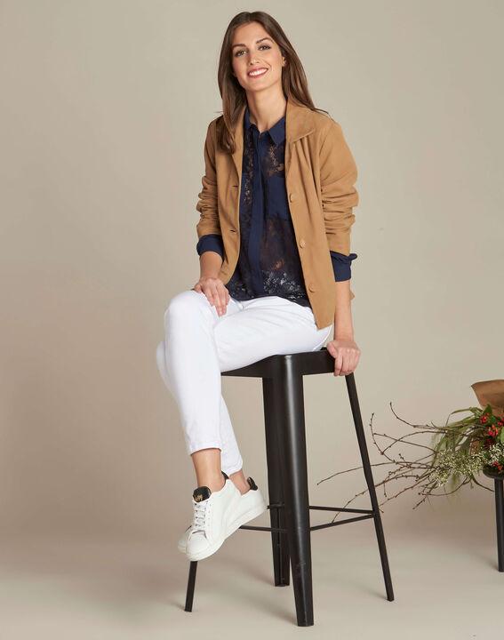 Diane navy blue lace blouse (2) - 1-2-3