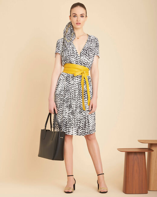 Panthere black and white printed dress (1) - 1-2-3