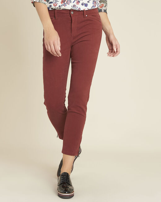 Opéra 7/8 length mahogany slim-cut jeans with zip detailing (1) - 1-2-3