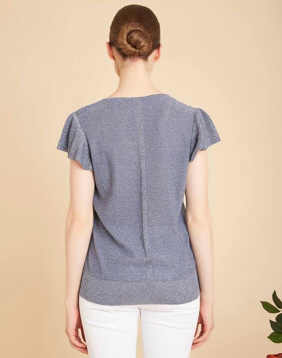 Lichtindigo trui van glanzend dun tricot Naiade (4) - 37653