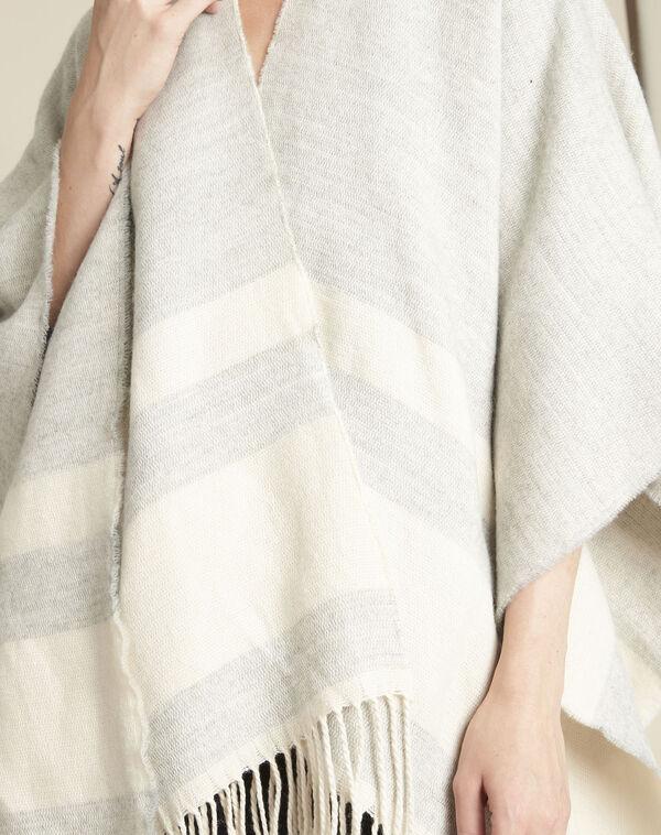 Poncho gris à franges Fadila (2) - 1-2-3