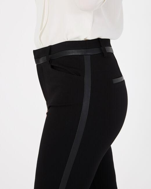 Pantalon noir imitation cuir slim Kali (2) - 1-2-3