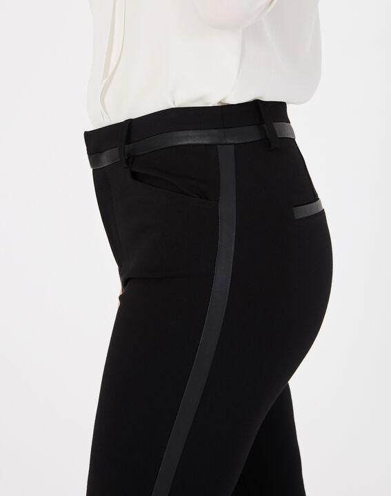 Pantalon noir imitation cuir slim Kali (3) - 1-2-3
