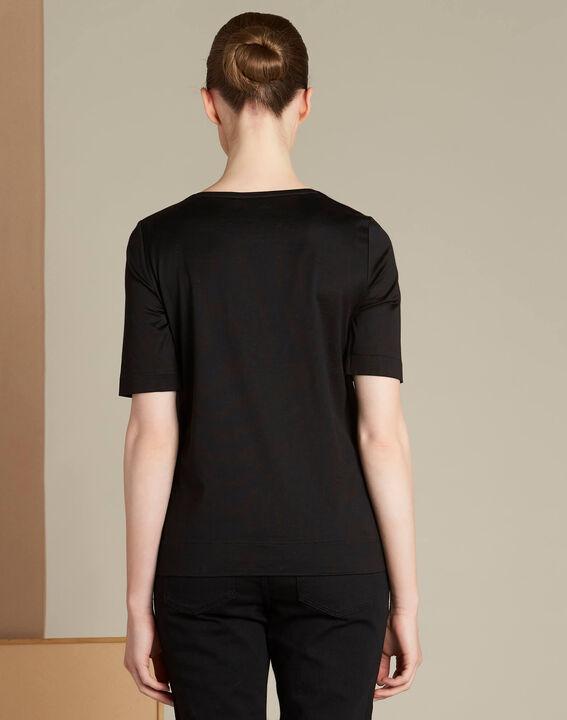 Tee-shirt noir broderie 123 Ellipse (4) - 1-2-3
