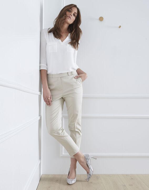 Pantalon beige cigarette Rubis (1) - Maison 123