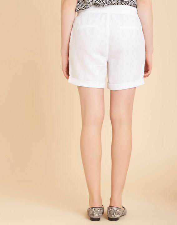 Citron white linen shorts (4) - 1-2-3
