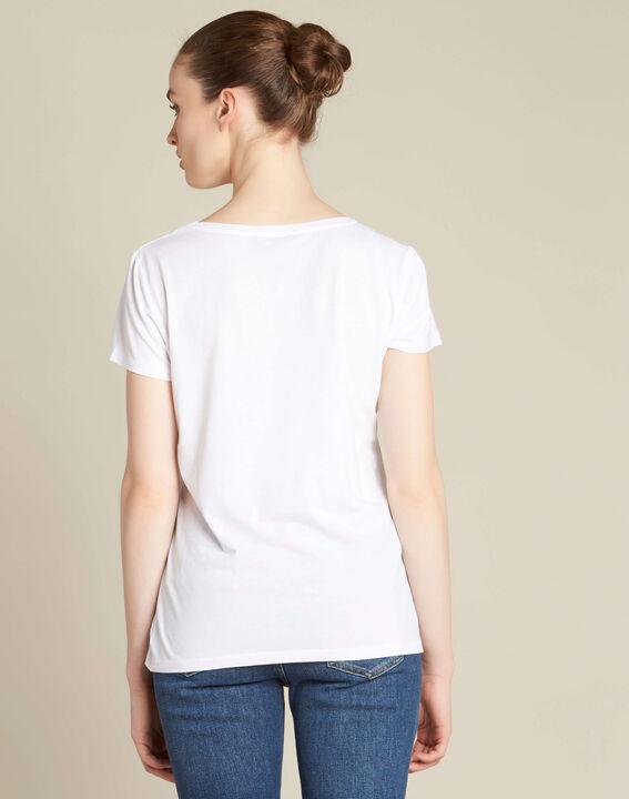 "Ecrufarbenes T-Shirt mit ""Pont des Arts""-Print Enamorada (4) - 1-2-3"