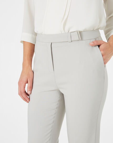 Pauline tailored grey trousers with buckle (3) - 1-2-3